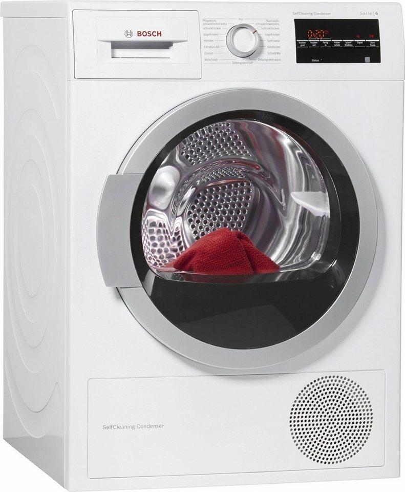 BOSCH Trockner WTW85460, A++, 7 kg in weiß