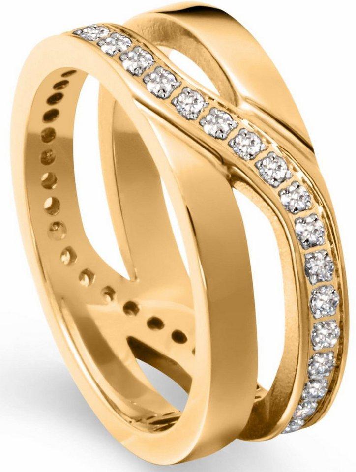 Tamaris Fingerring »Kristina, A06411013, A06411015, A06411017« mit Zirkonia in goldfarben