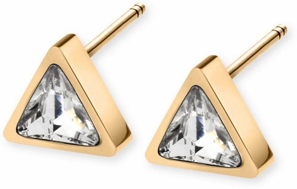 Tamaris Paar Ohrstecker »Sandy, A07141020« mit Glassteinen in goldfarben