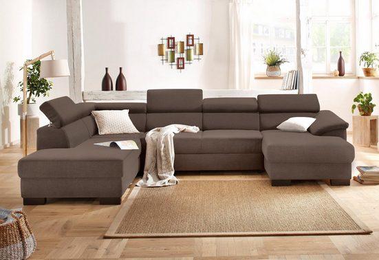 Home affaire Wohnlandschaft »Mika«, wahlweise mit Bettfunktion