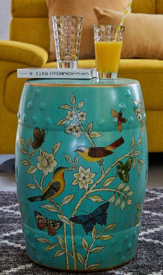 Home affaire Keramik-Beistelltisch in türkis
