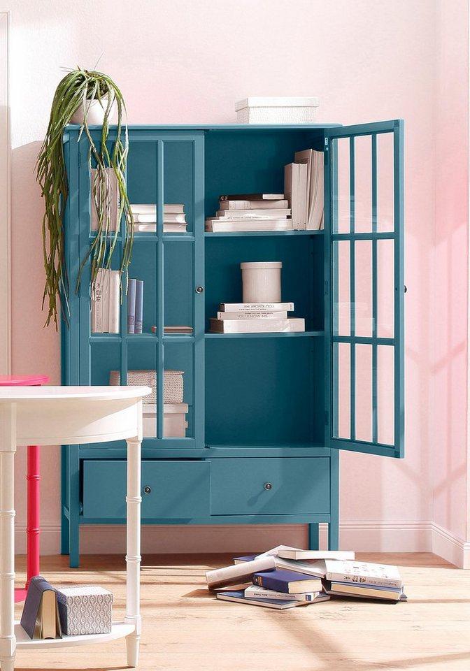 Home affaire Vitrine »Wood«, Breite 100 cm in blau
