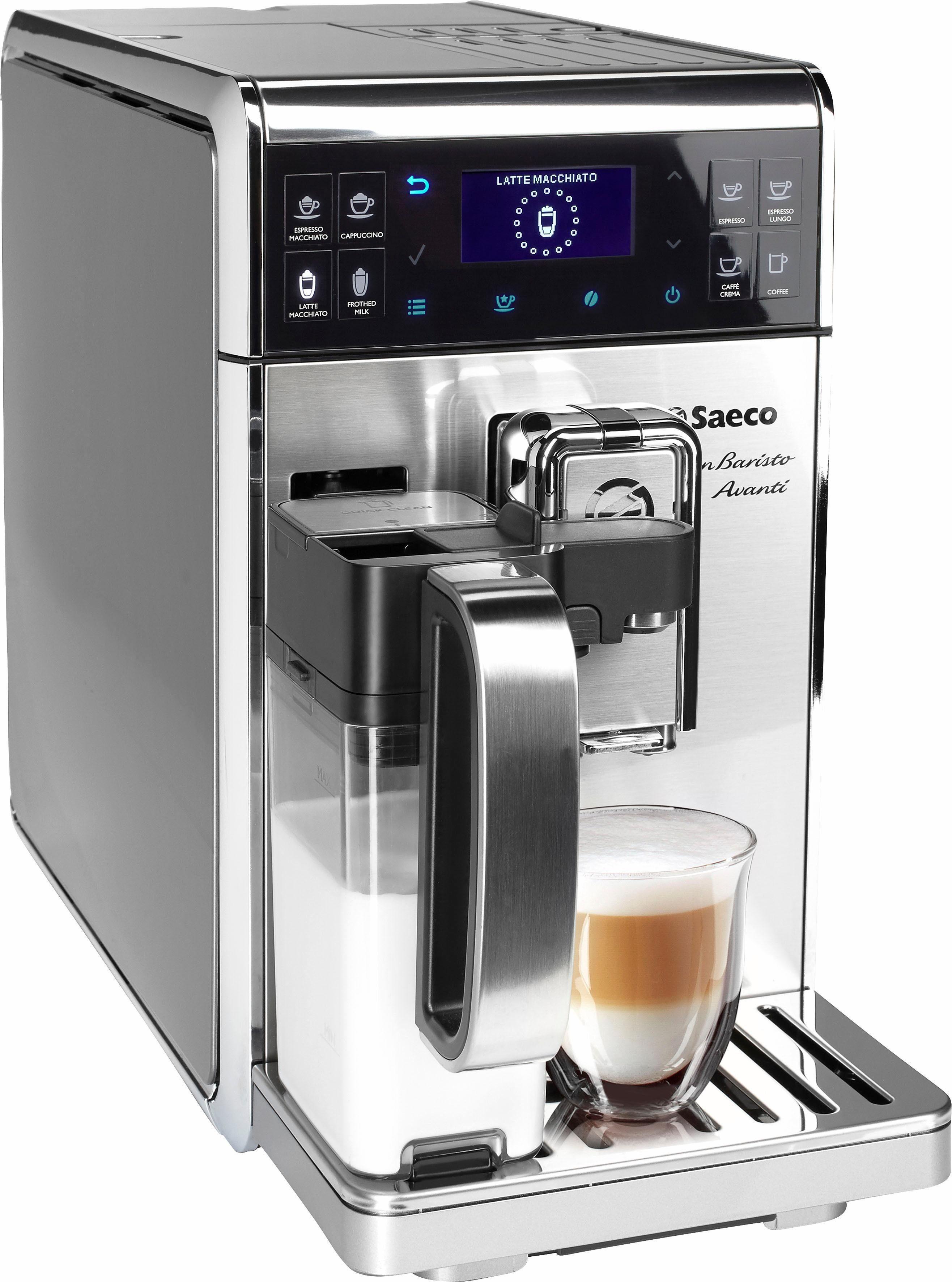 Saeco Kaffeevollautomat HD8977/01 Saeco GranBaristo Avanti mit AquaClean und App-Steuerung