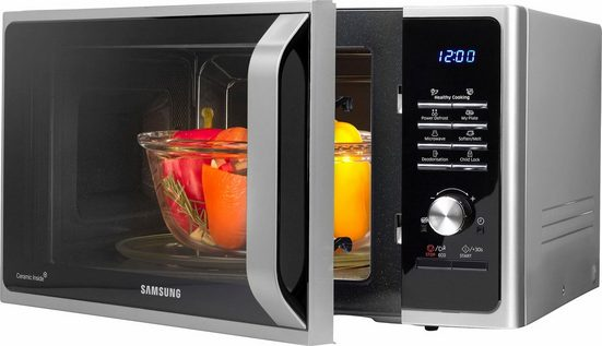 Samsung Mikrowelle MW3000 MS28F303TAS/EG, Mikrowelle, 28 l, mit Keramik-Emaille-Innenraum