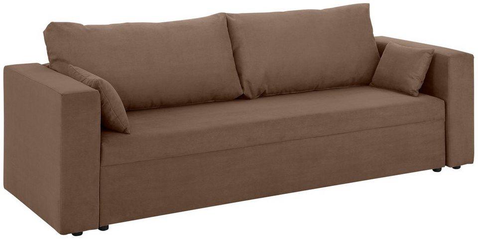 home affaire 3 sitzer pur wahlweise mit bettfunktion. Black Bedroom Furniture Sets. Home Design Ideas