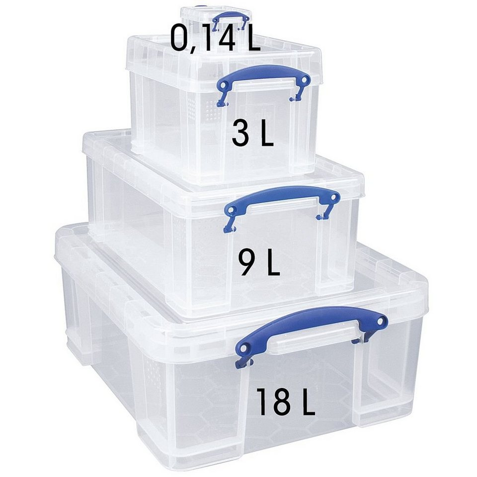 Really Useful Box 4er-Set Ablageboxen