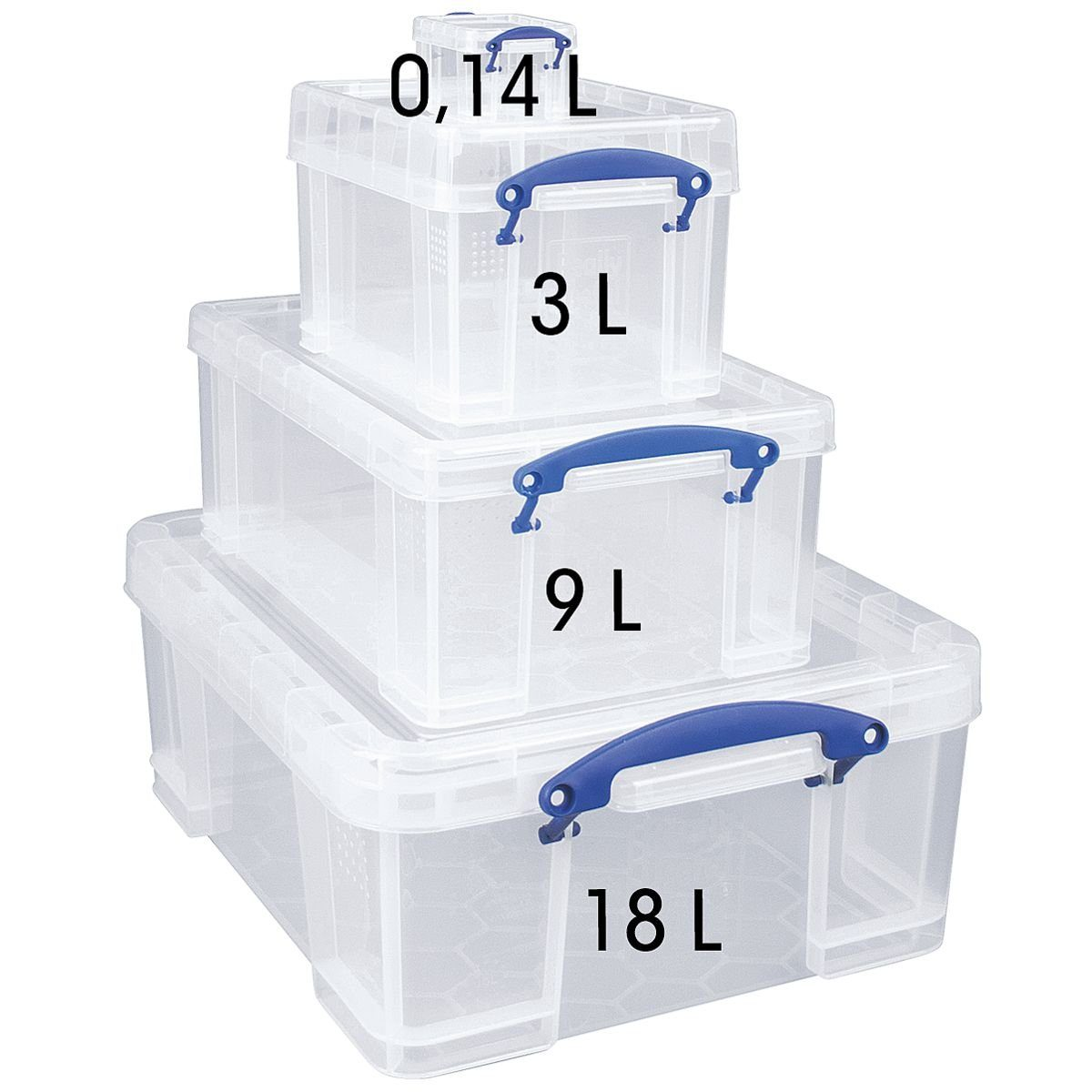 Really Useful Box 4er-Set Ablageboxen