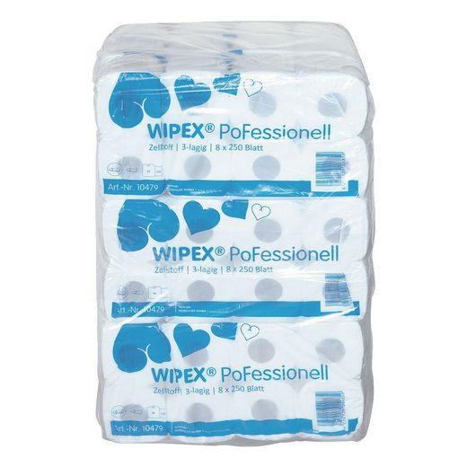 WIPEX Toilettenpapier 3-lagig - 72 Rollen