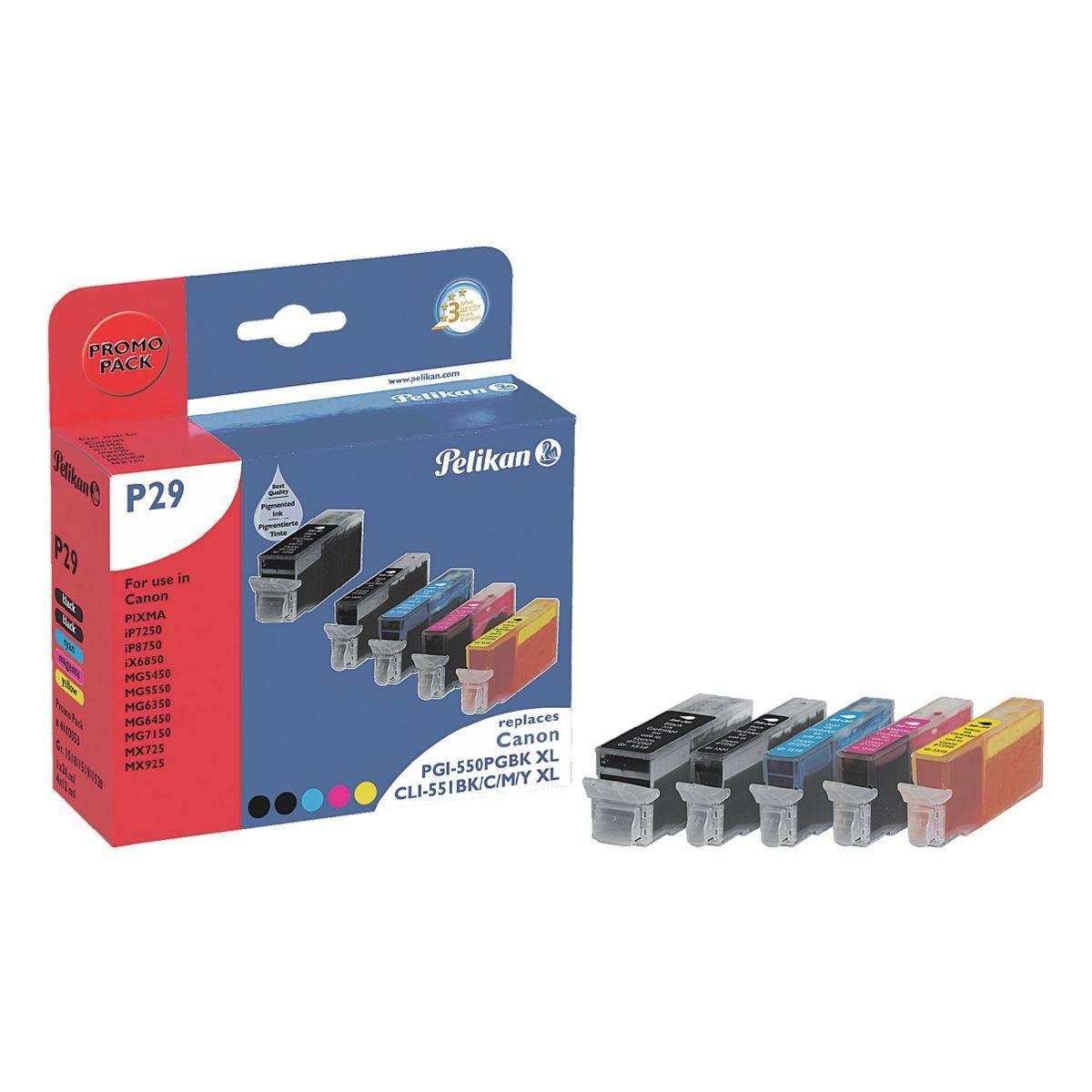 Pelikan Tintenpatronen-Set ersetzt Canon »PGI-550PGBK XL & ...