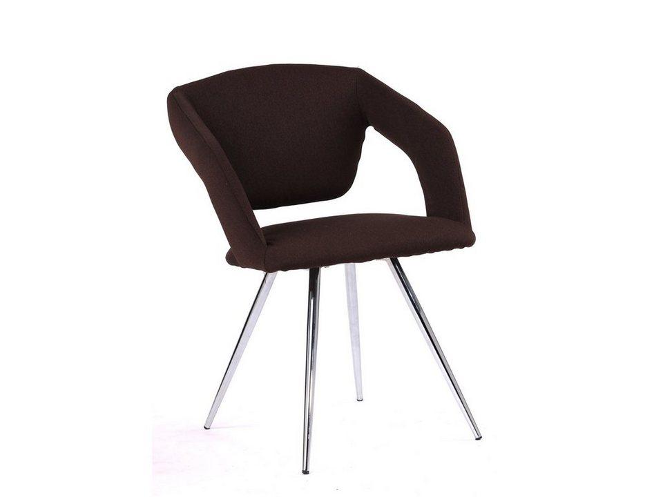 massivum Stuhl aus Flachgewebe »Saldus « in braun