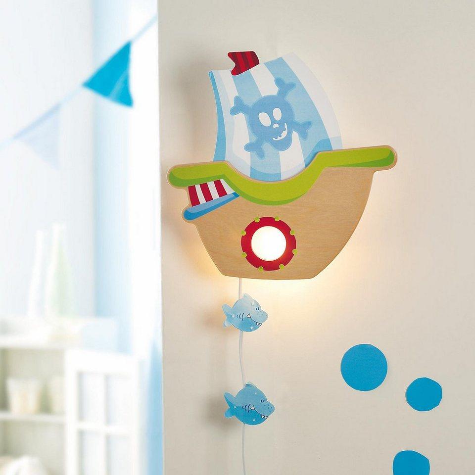 Haba 7555 Schlummerlicht Piratenschiff in blau