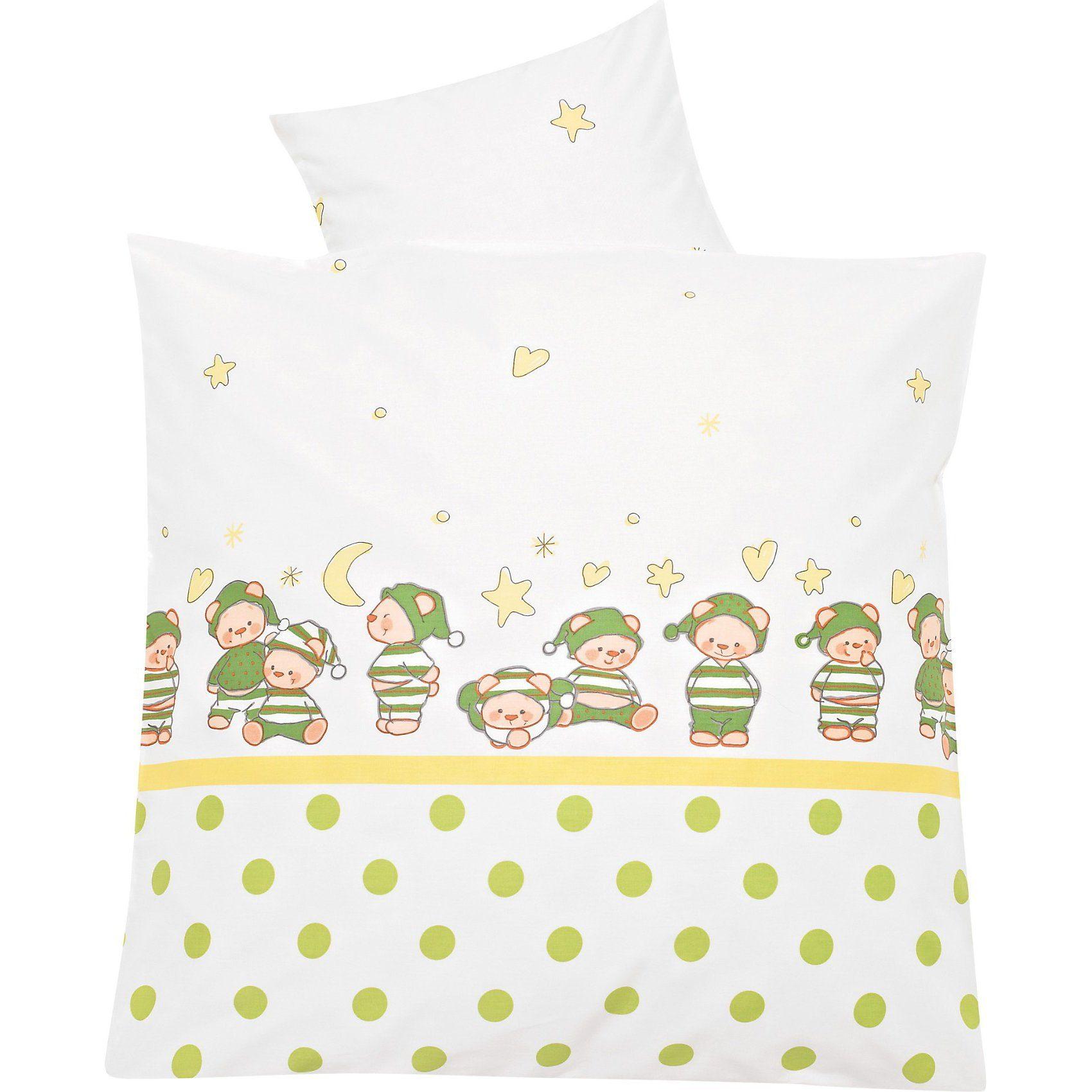 MyToys-COLLECTION Babybettwäsche Schlafmütze, grün, 80 x 80 cm