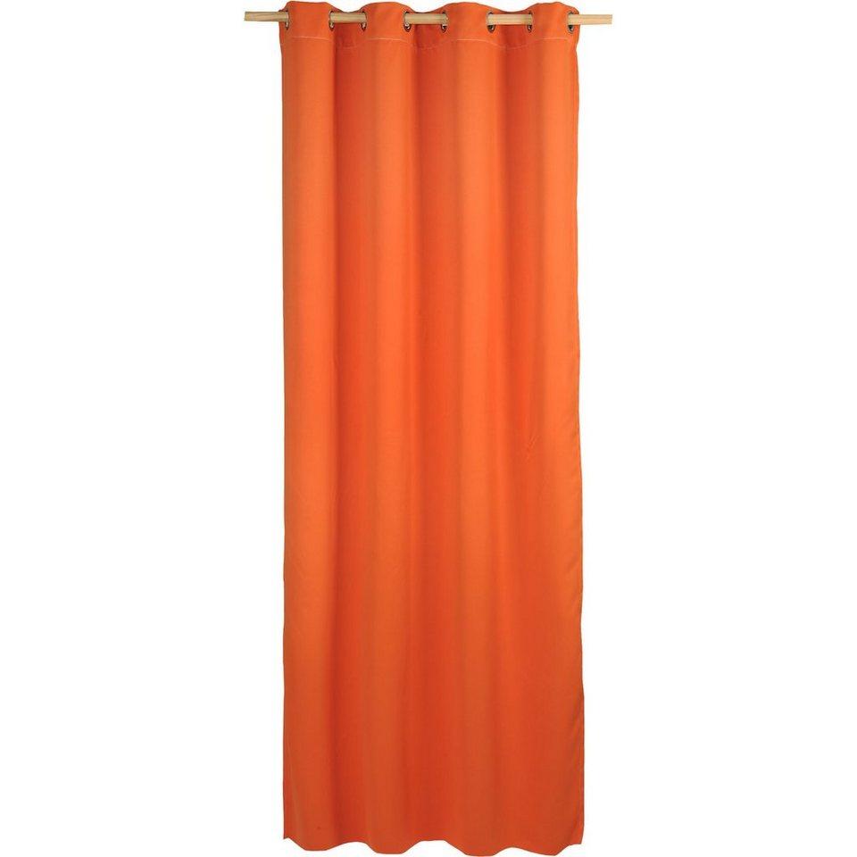 Vorhang Black Out, blickdichter Verdunkelungsvorhang, 245 x in orange