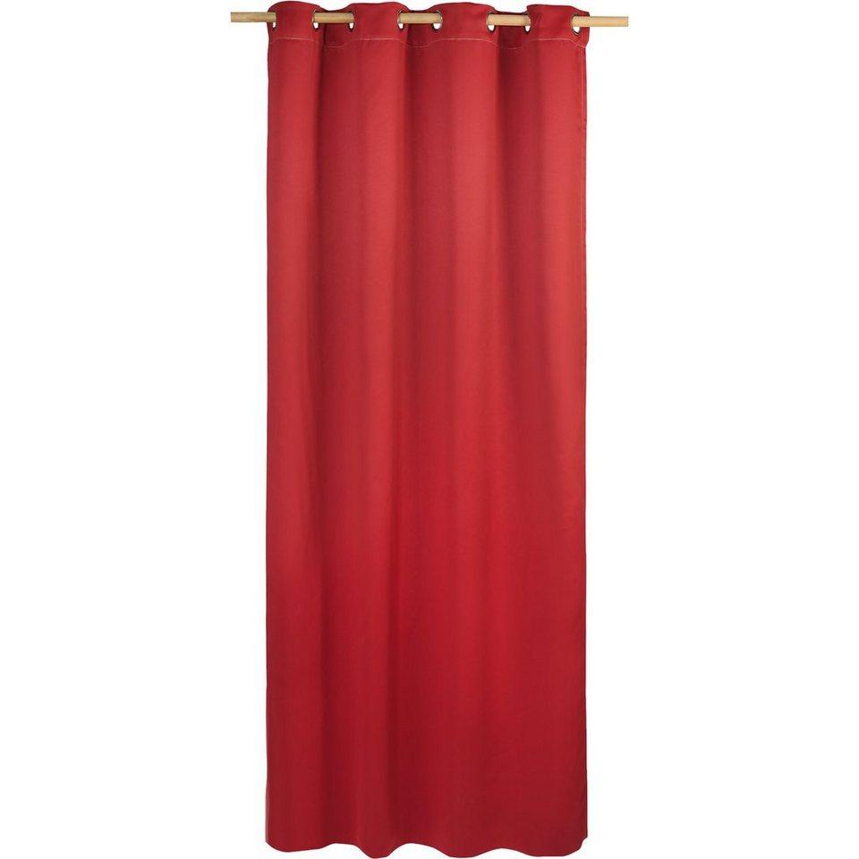 Vorhang Black Out, blickdichter Verdunkelungsvorhang, 245 x in rot
