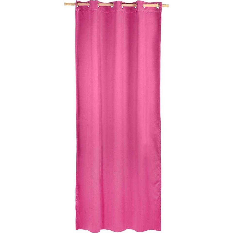 Vorhang Black Out, blickdichter Verdunkelungsvorhang, 245 x in rosa
