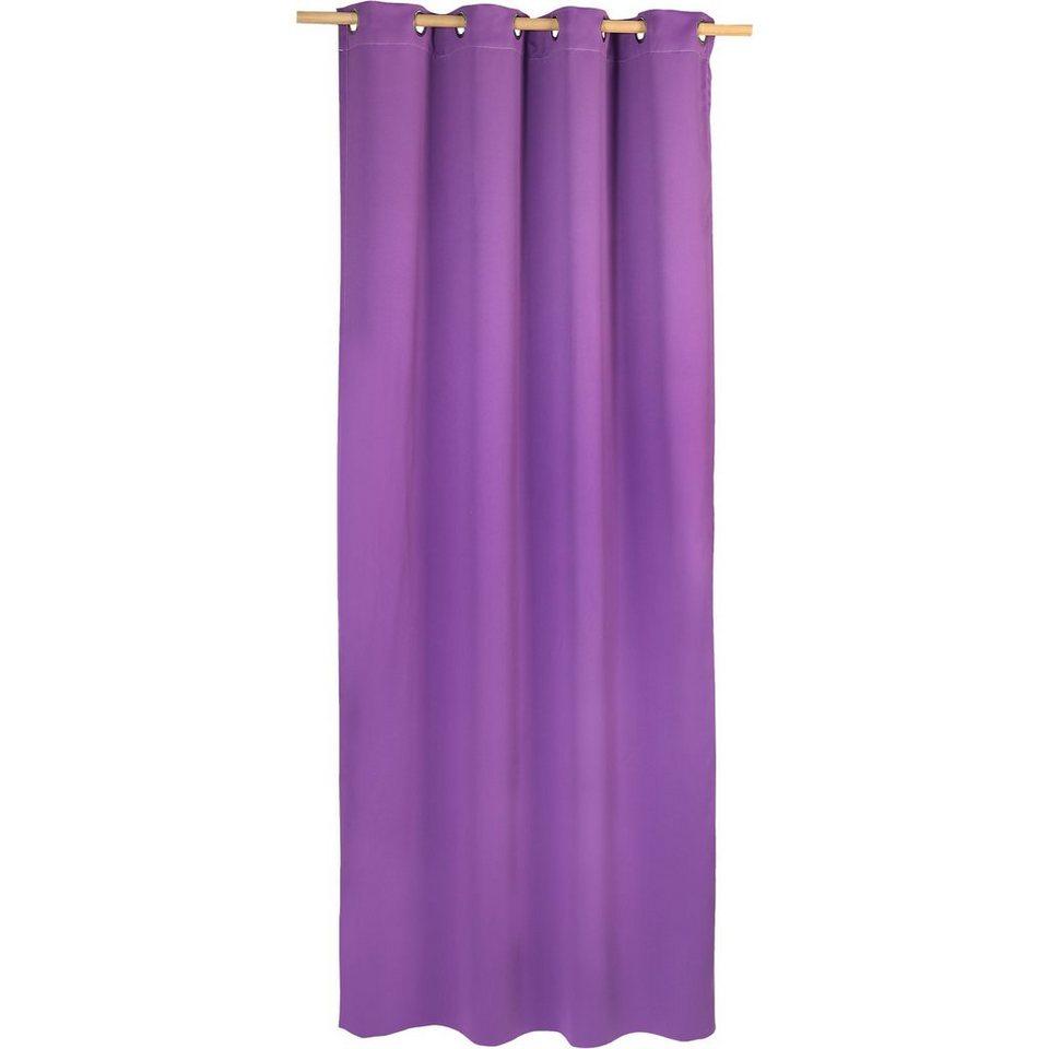 Vorhang Black Out, blickdichter Verdunkelungsvorhang, 245 x in lila