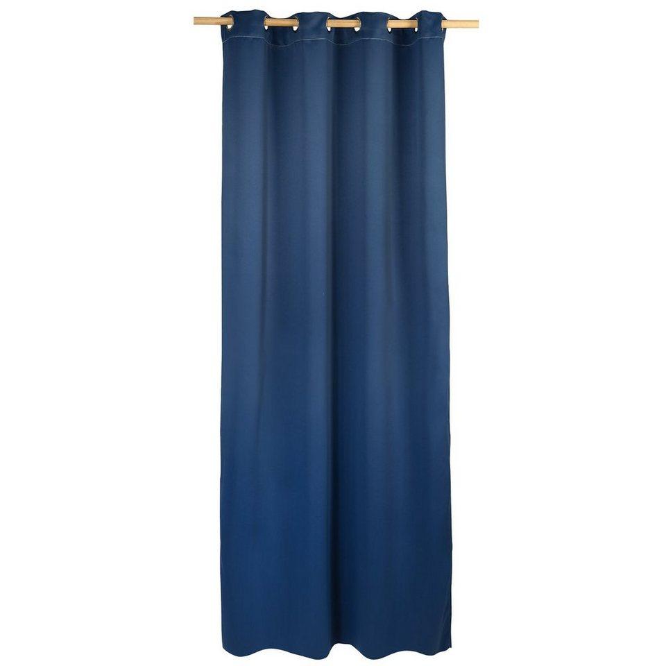 Vorhang Black Out, blickdichter Verdunkelungsvorhang, 245 x in blau