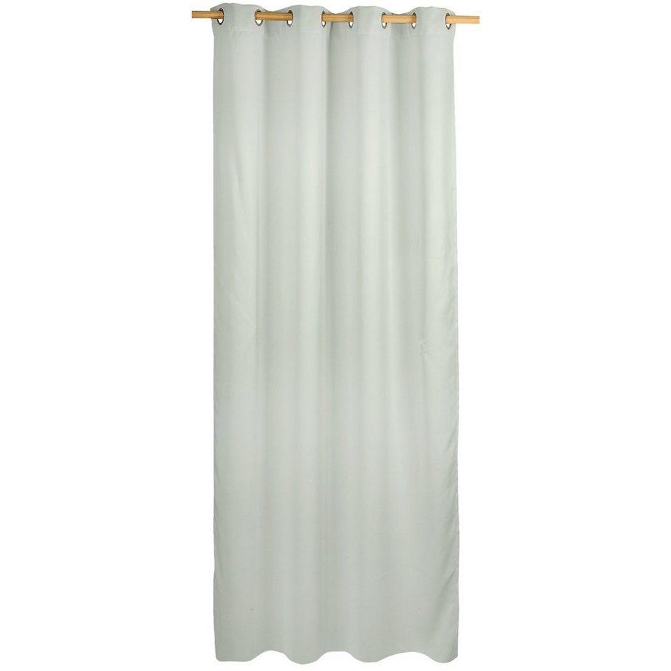 Vorhang Black Out, blickdichter Verdunkelungsvorhang, 245 x in grau
