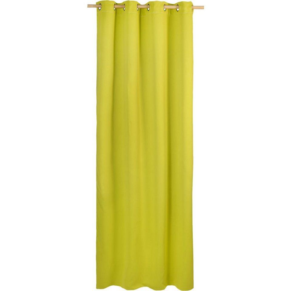 Vorhang Black Out, blickdichter Verdunkelungsvorhang, 245 x in grün