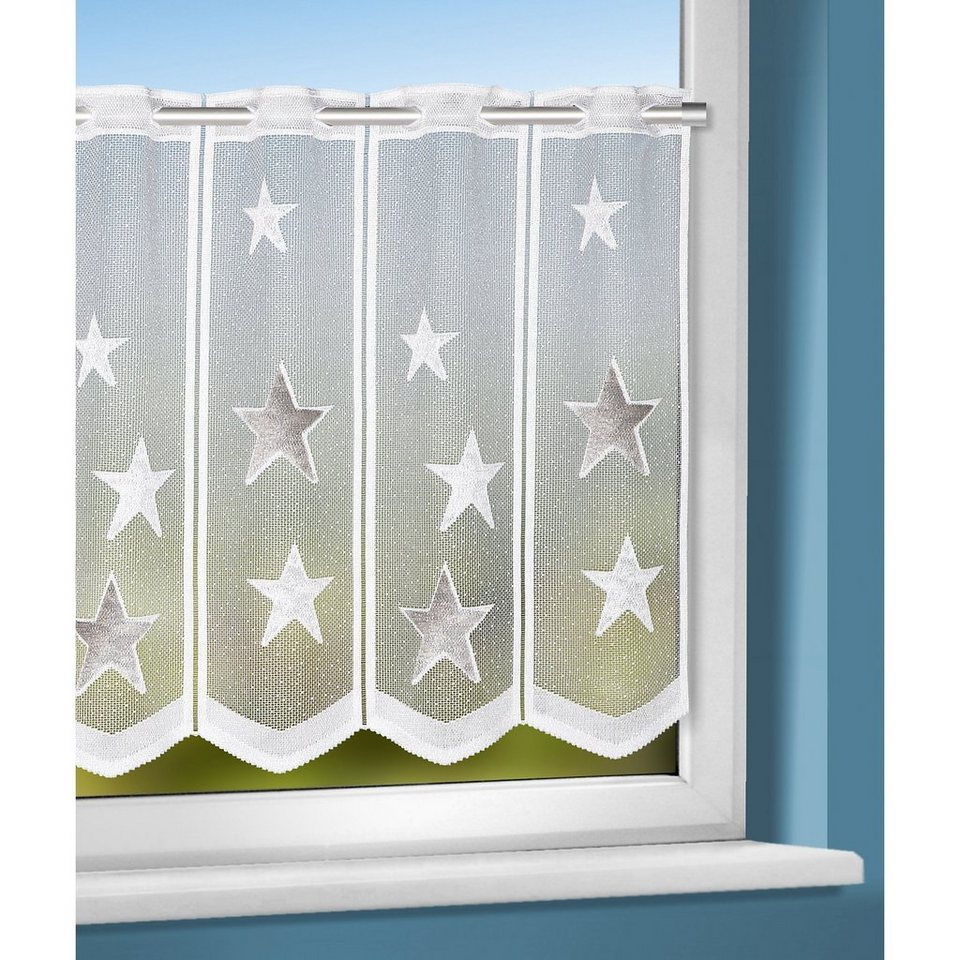 Panneaux Sterne , 45 x 140 cm in weiß