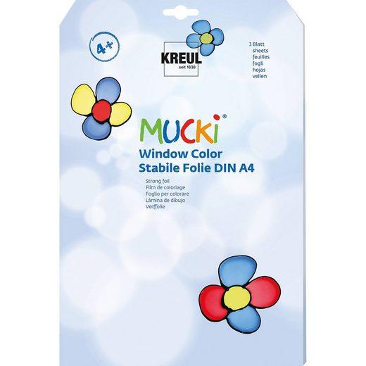 C. KREUL Mucki Window Color Stabile Malfolie A4, 3 Blatt