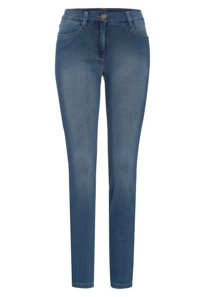 BRAX Damenjeans Five-Pocket »SHAKIRA YOGA« in USED REGULAR BLUE