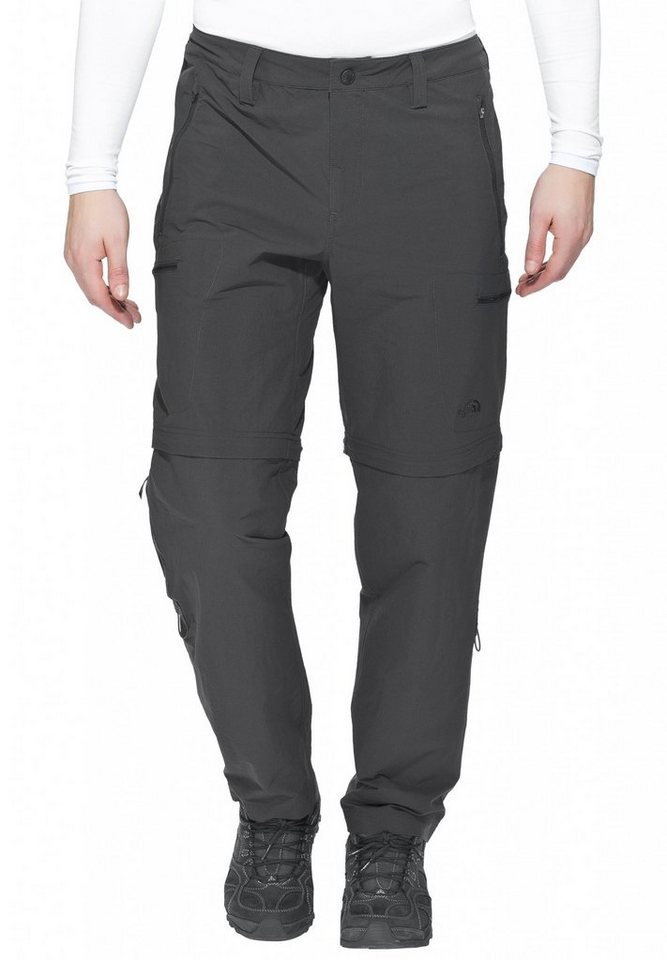 The North Face Outdoorhose »Exploration Convertible Pant Long Men« in grau