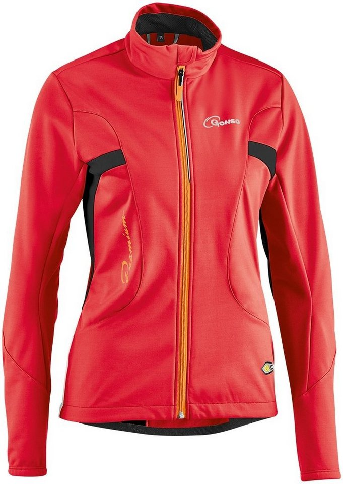 Gonso Radjacke »Birgit Softshell Active Jacke Damen« in rot