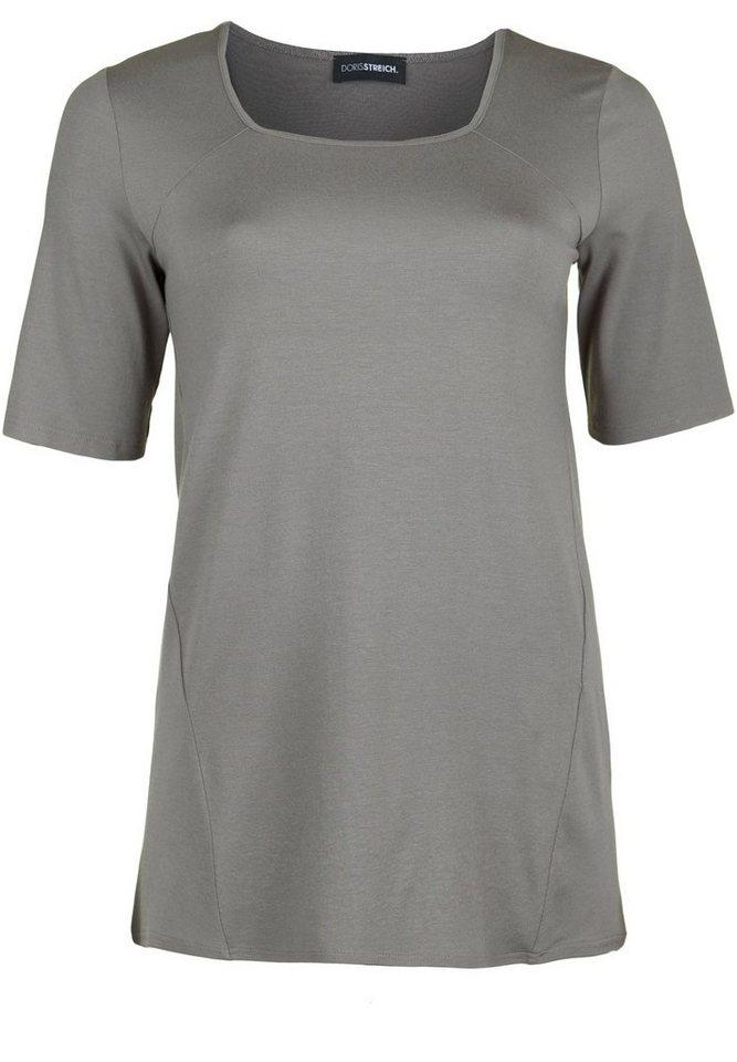 Doris Streich Jerseyshirt »MIT KARREE-AUSSCHNITT« in grege