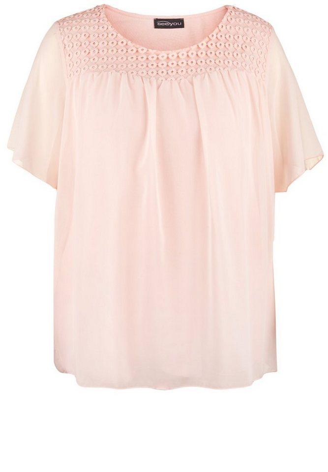seeyou Shirt »BLUSENSHIRT IM LAGEN-LOOK« in rose