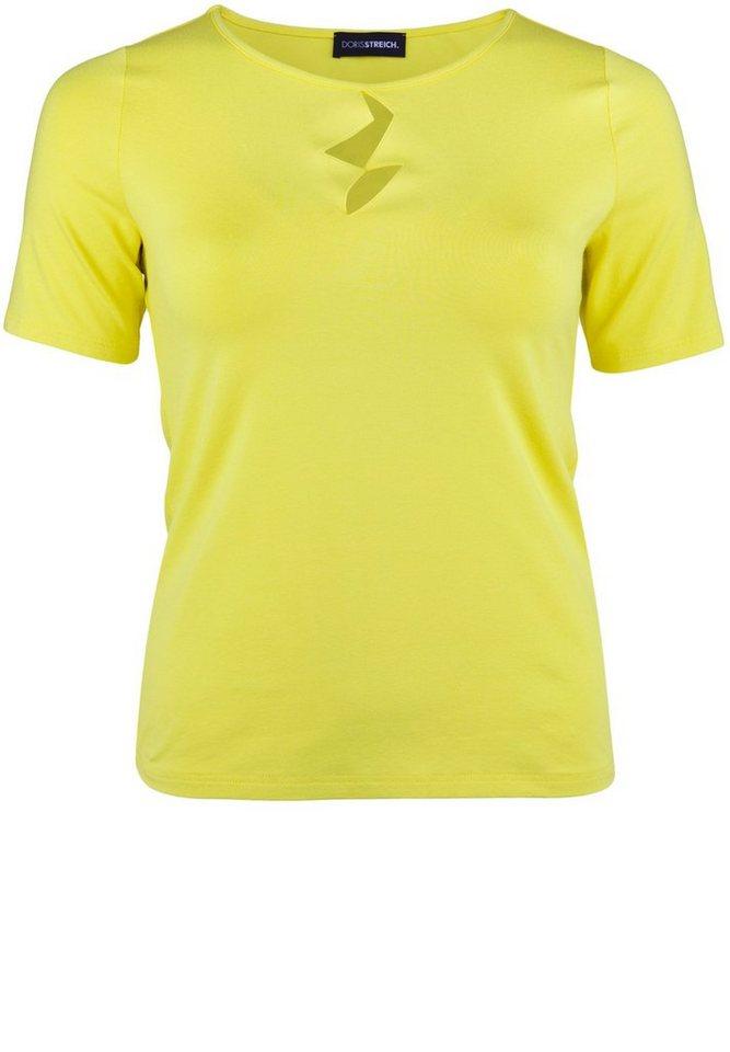 Doris Streich T-Shirt »MIT BLITZ-EINBLICKEN« in lemon