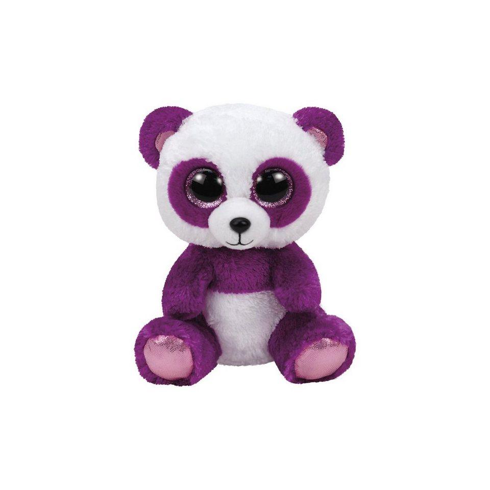 Ty Beanie Boo Panda Boom Boom violett/weiss, 24cm