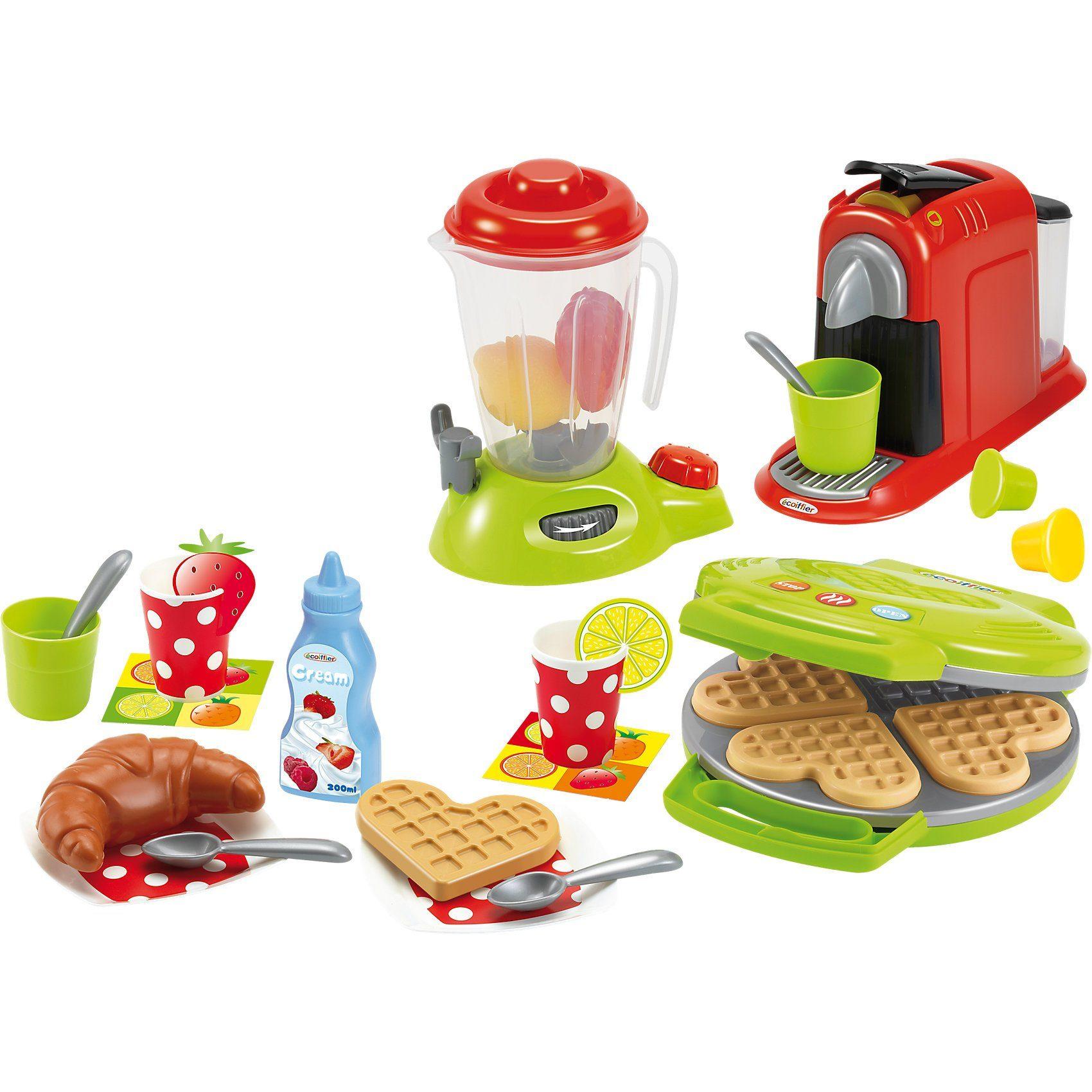 Ecoiffier Frühstücks-Set mit Waffeleisen für die Spielküche