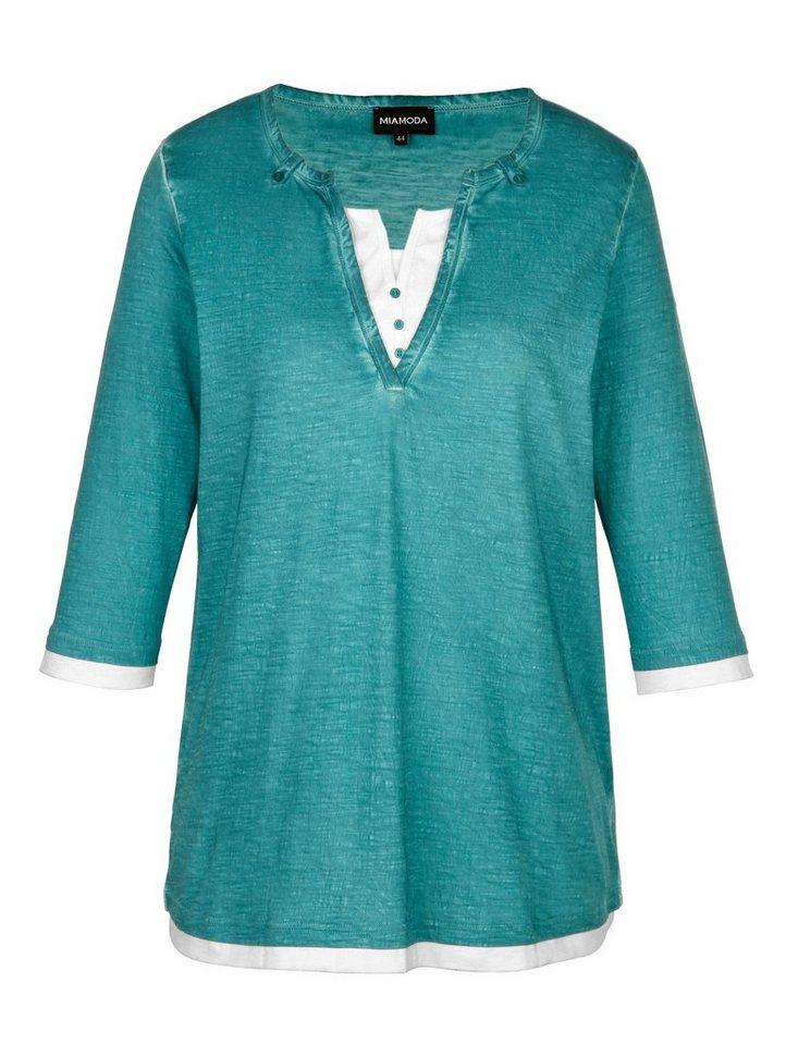 MIAMODA Shirt in smaragd