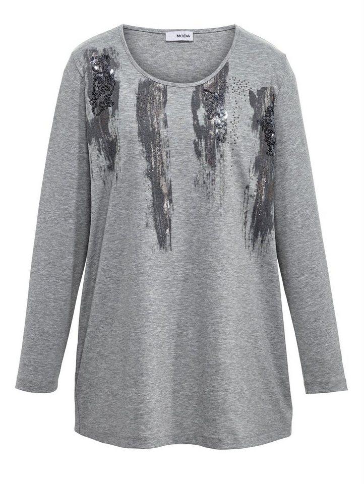MIAMODA Shirt in grau melange