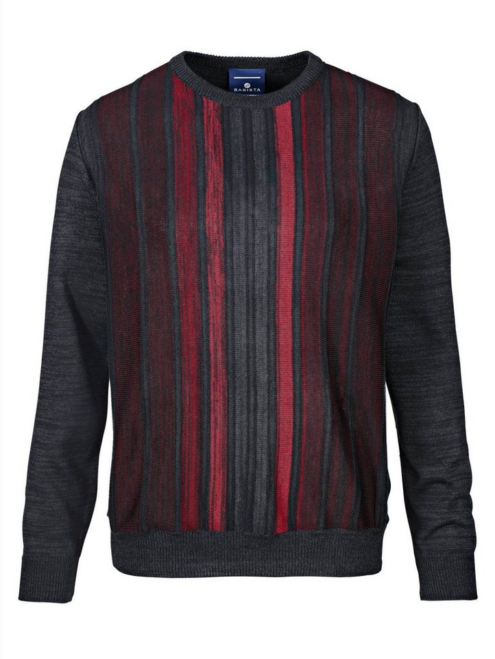 Babista Pullover Made in Italy in schwarz-rot