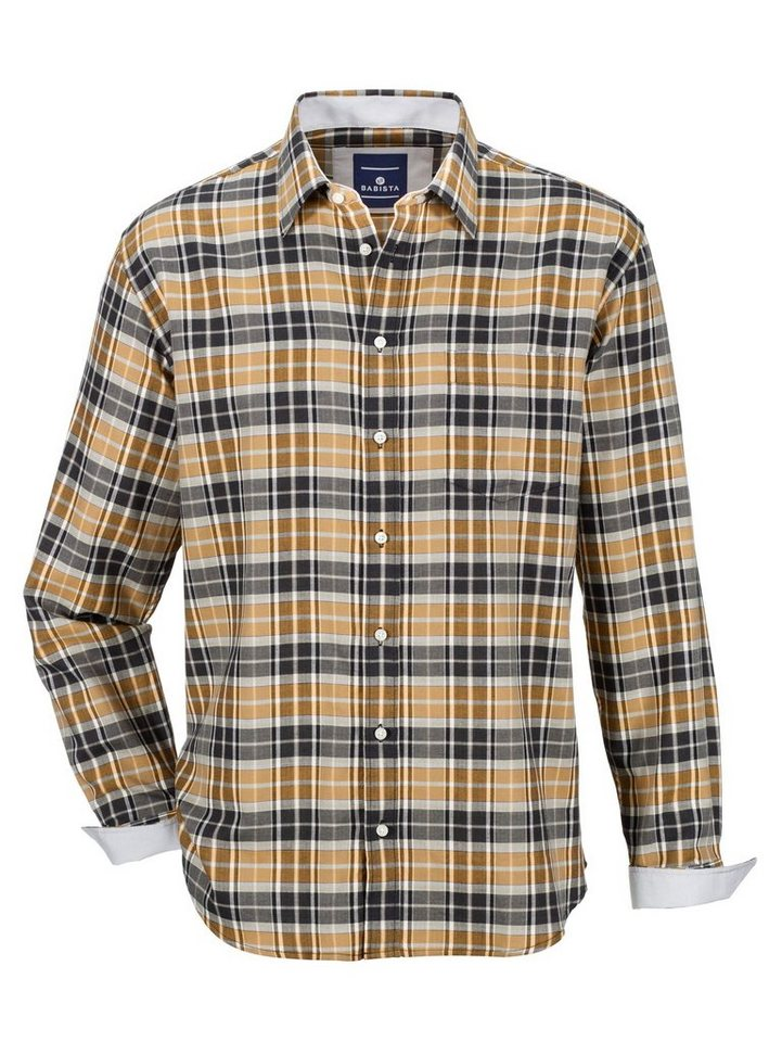 Babista Hemd in wärmender Qualität in messingfarben-schwarz
