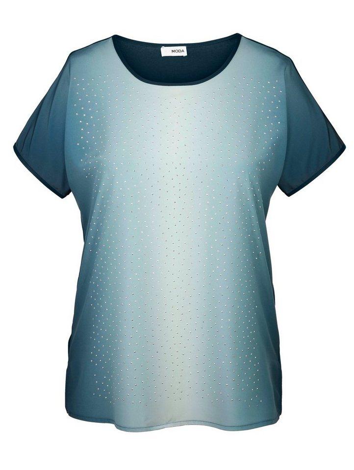 MIAMODA Shirt mit Farbverlauf in petrol/mint