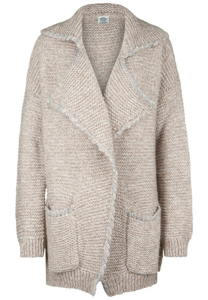 CP29 Cardigan »MONA« in light taupe mel.