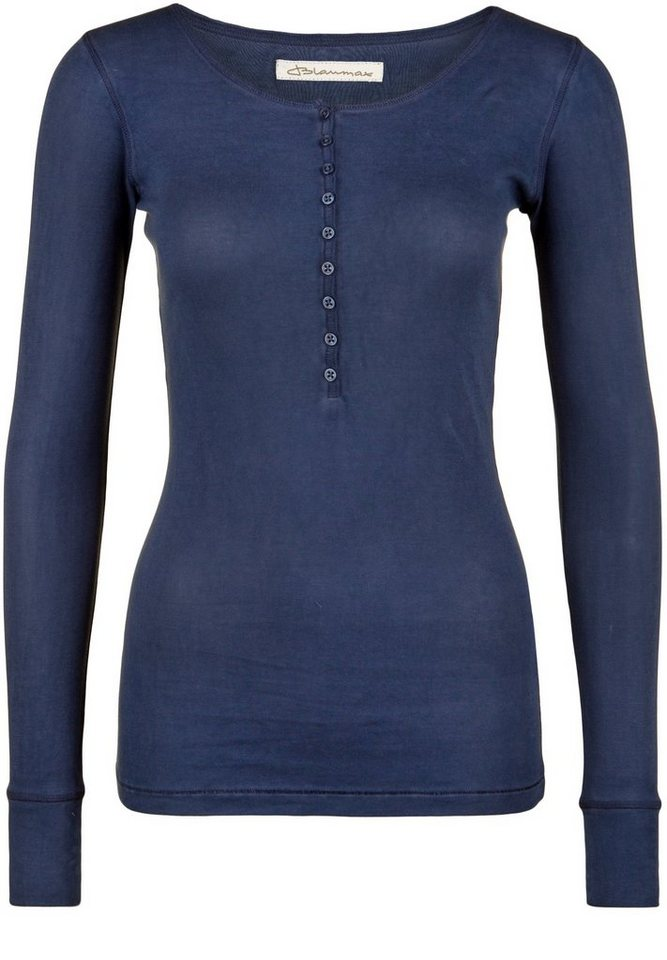 Blaumax Longsleeve »PARIS Fadeout-Look« in ink blue