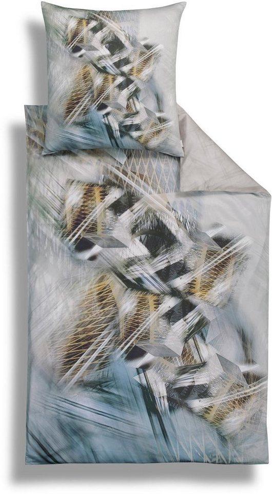 Bettwäsche, Estella, »Fenno«, mit Mustermix in 3D in grau