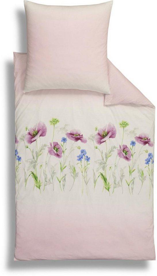 Bettwäsche, Estella, »Felicia«, mit leichtem Farbverlauf in rosa