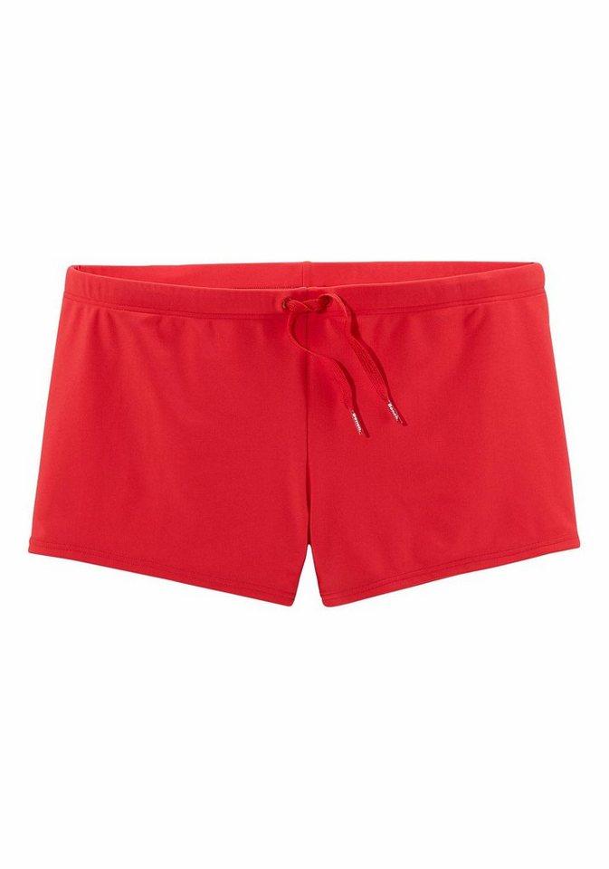 Bench Boxerbadehose mit Außenkordel in rot