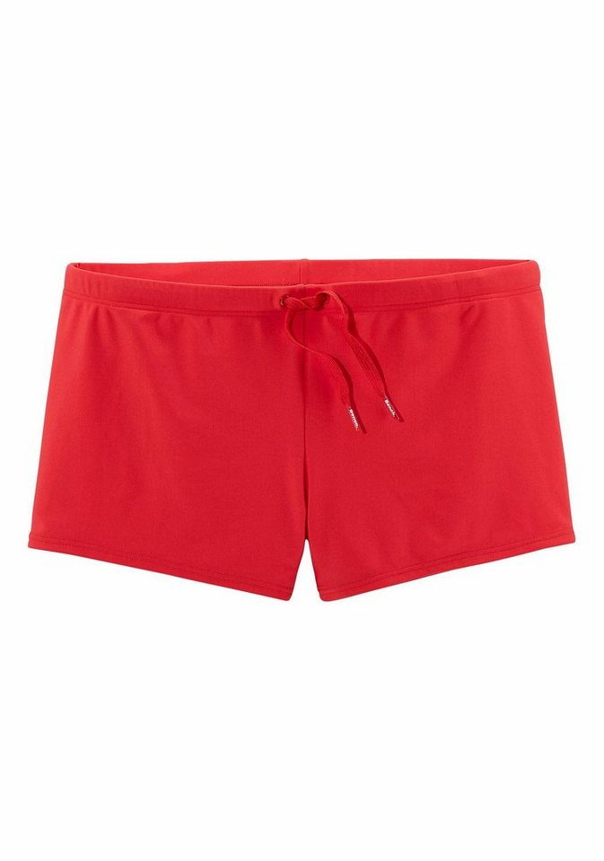 Boxerbadehose, Bench in rot