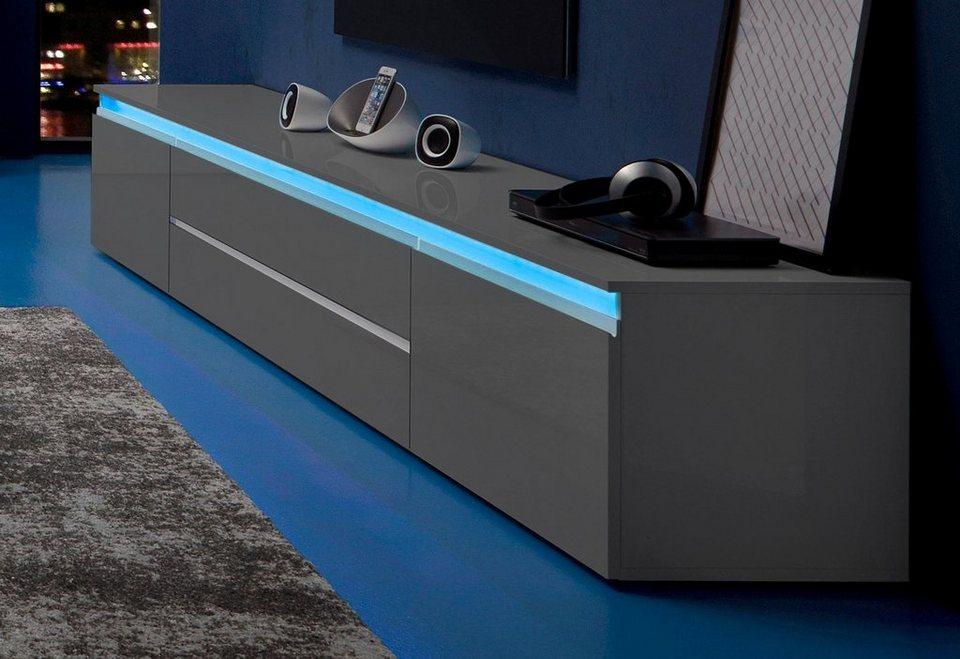 tecnos lowboard breite 240 cm 2 t 252 ren kaufen otto