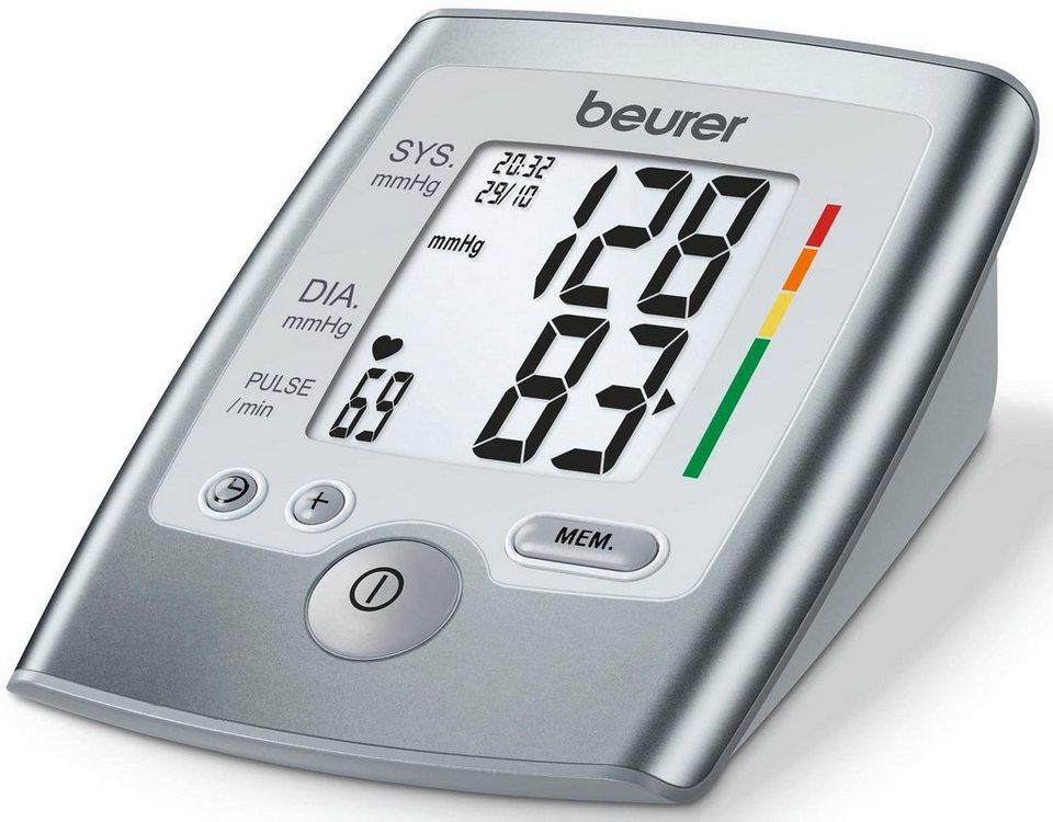 Beurer Oberarm Blutdruckmessgerät, BM 35 in grau