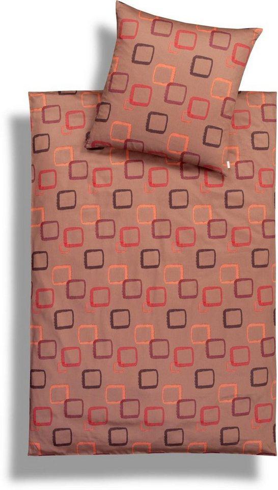 Bettwäsche, Estella, »Laúro«, in modernem Design in orange