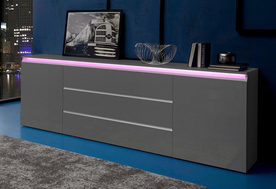 tecnos sideboard breite 240 cm 2 t ren online kaufen otto. Black Bedroom Furniture Sets. Home Design Ideas