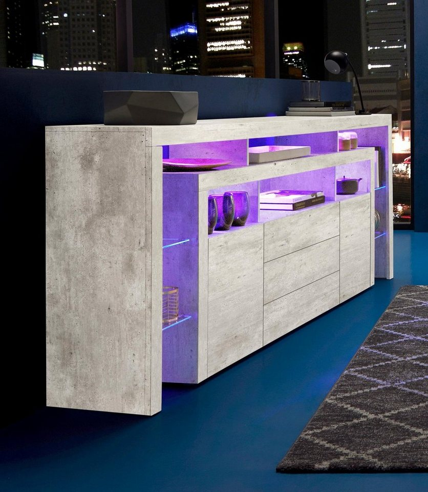 borchardt m bel sideboard breite 220 cm kaufen otto. Black Bedroom Furniture Sets. Home Design Ideas