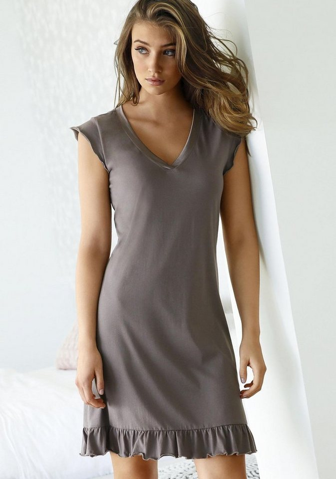 s.Oliver RED LABEL Bodywear Nachthemd in taupe
